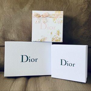 CHRISTIAN DIOR empty boxes 3pcs set
